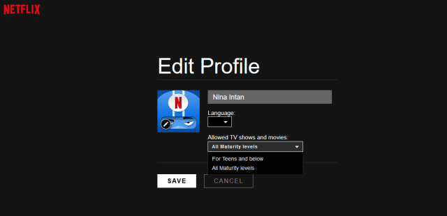 Edit profile netflix
