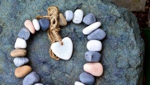 stones, chain, heart