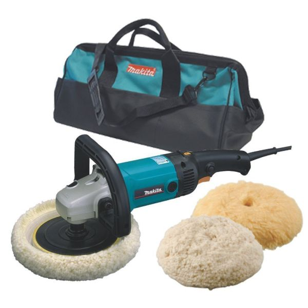 "Makita 7"" Electronic Polisher-Sander w Polish Kit ..."