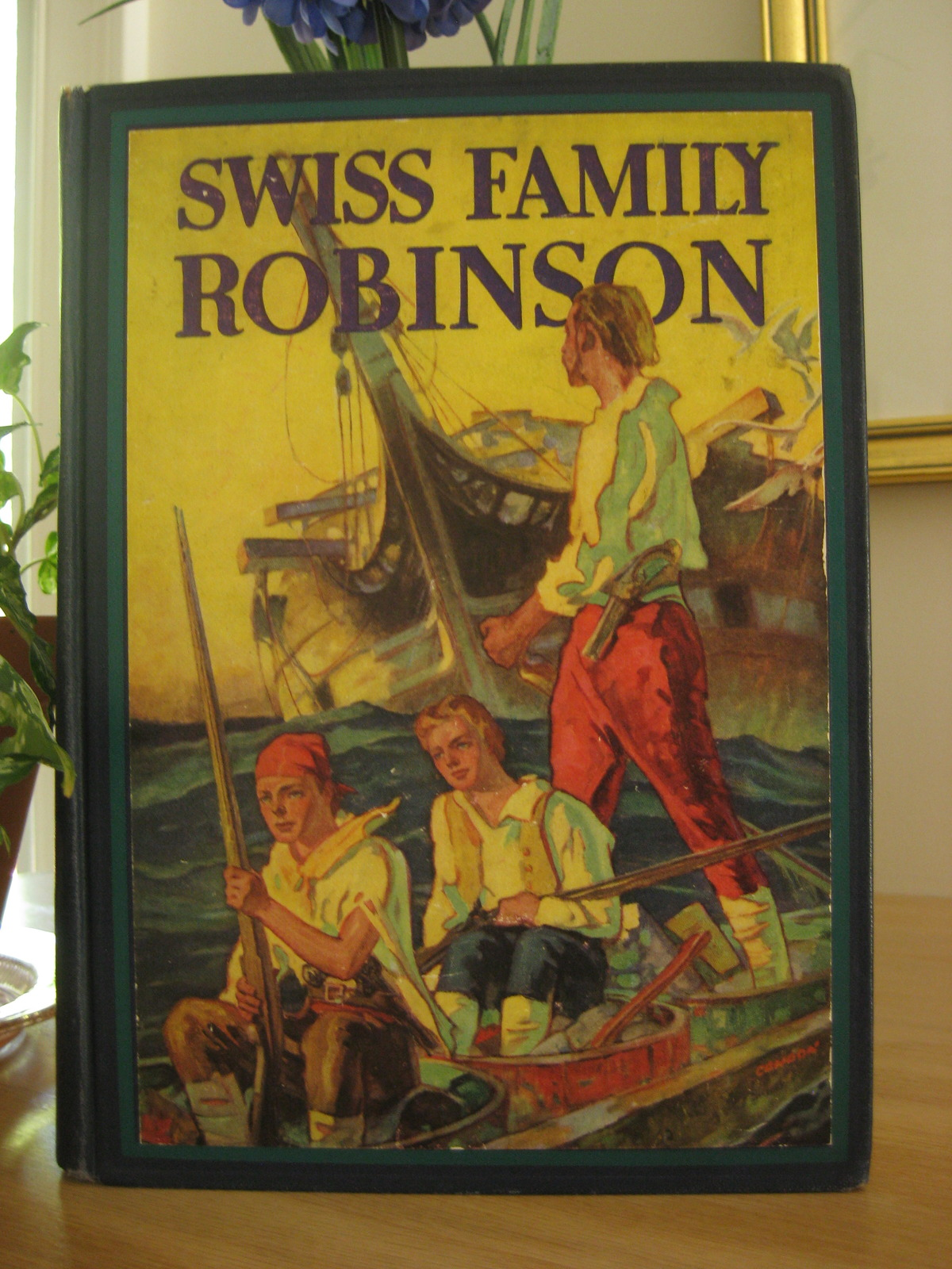Swiss Family Robinson By J D Wyss With 8 Color Plates