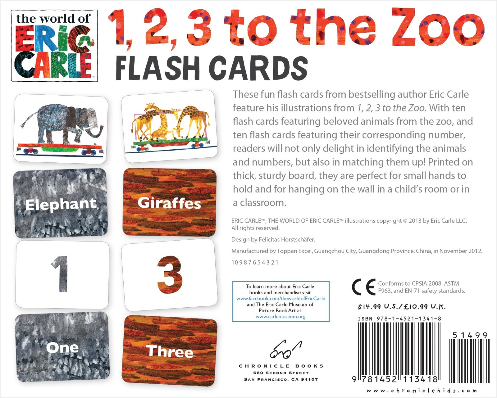 1 2 3 To The Zoo Flash Cards From The World Of Eric Carle