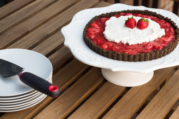oreo crust strawberry tart