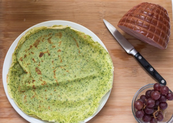 rench savory spinach crepe