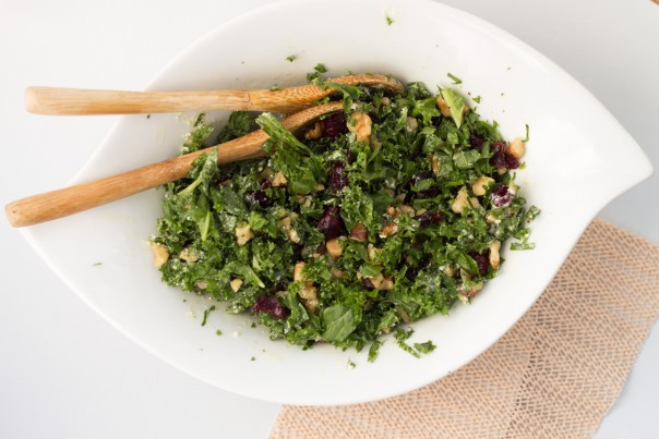 Kale salad goat cheese dressing