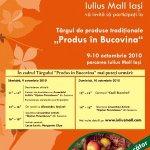 Târgul de toamnă 'Produs în Bucovina', la Iaşi, în acest sfârşit de săptămână