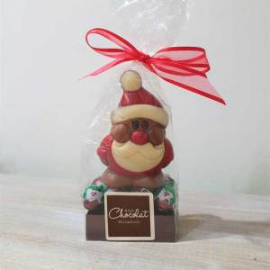 Small Milk Chocolate Santa with Foiled Puddings