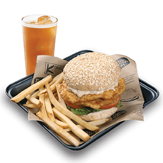 Bonchon Double Loaded Chicken Sandwich Boxed Meal