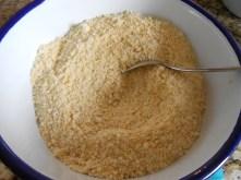 Polenta + almond flour
