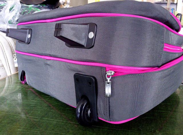 2輪固定キャスタータイプのキャリーバッグ
