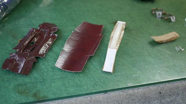 (siffler)シフレ / キャリーケースの破れたハンドルレザーを新しく作製