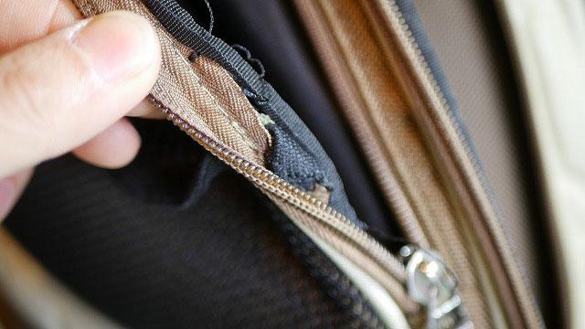 (BALLY GOLF)バリーゴルフ/キャディバッグのサイドポケット内巻き解体