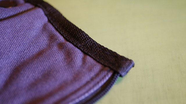 (BURTON)バートン/キャディバッグフードのファスナーエンドを縫製