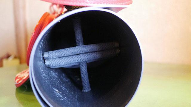(noisy noisy)ノイジーノイジー/中筒が凹んだゴルフバッグに筒を追加して補強