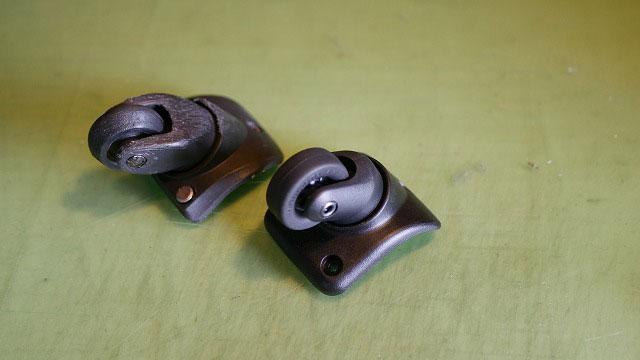 (DUNLOP)ダンロップ/キャリーバッグのキャスターを汎用パーツに交換修理