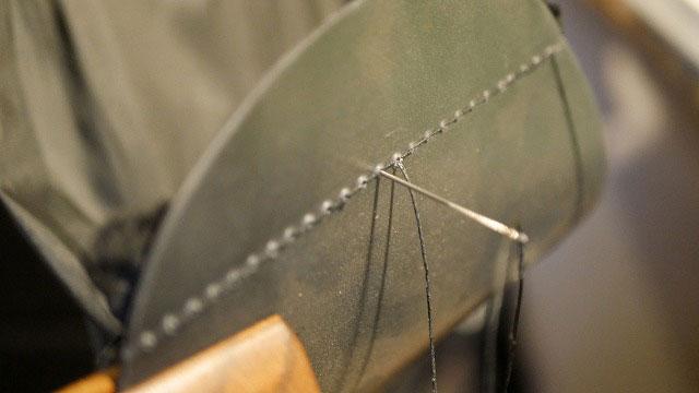 (BLUE TEE GOLF)ブルーティーゴルフ/キャディバッグの中仕切り縫製ほつれの再縫製