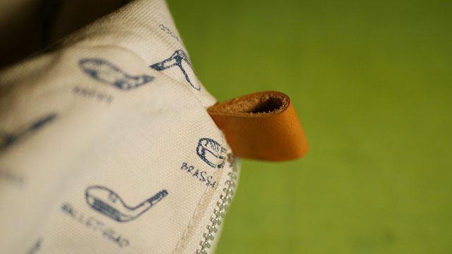木の庄帆布/キャディバッグのフード革ベルトを新しく作製交換