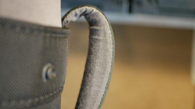 (TUMI)トゥミ/キャディバッグの持ち手タピール生地の剥がれ