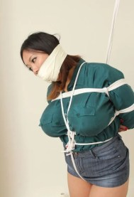 Awesome Busty Asian Gets Stripped, Gagged and Bound for Humiliation
