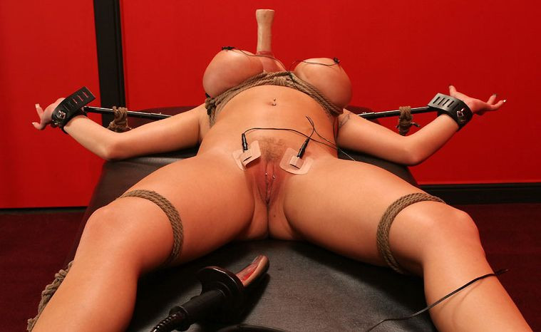 Awesome Busty Blonde Gets Restrained and Punished Hard in the Dungeon