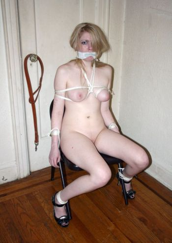 Beautiful Girlfriend Cleave Gagged, Bound and Stripped for Discipline
