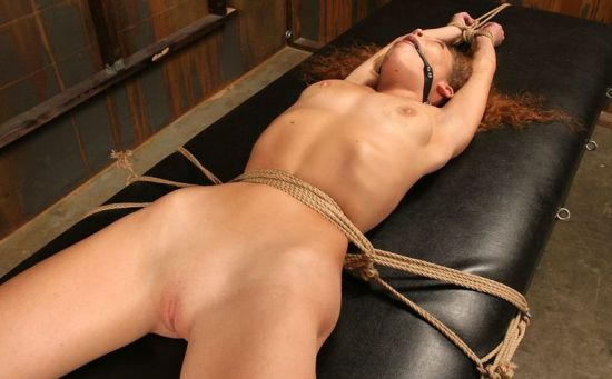 Beautiful Young Slave Gets Bound, Gagged and Dominated in the Dungeon