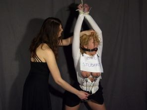Blond Schoolgirl Slave Gets Tortured and Degraded by Her Hot Mistress