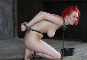 Cherry Torn Gets Restrained, Collared and Dominated in Dungeon