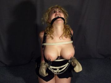 Cute Curvy Blonde Gets Cleave Gagged, Tightly Bound and Humiliated