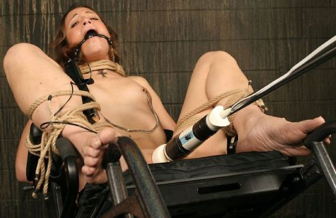 Cute Young Amateur Restrained, Gagged and Penetrated in Dungeon