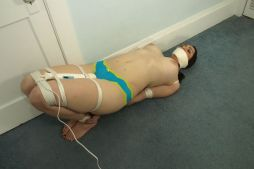 Cute Young Amateur Tightly Bound, Gagged and Tortured for Discipline