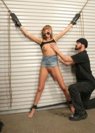 Cute Young Slave Gets Stripped and Humiliated in the Dungeon for Fun