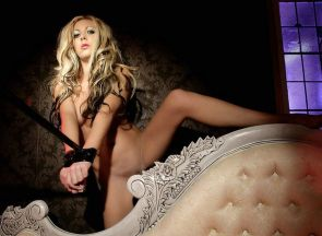 Gorgeous Young Blonde Gets Tape Bound and Dominated in Boudoir