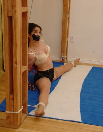 Gorgeous Young Brunette Gets Bound and Spread for Punishment