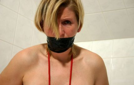 Hot Housewife Gets Gagged, Bound and Tortured Hard by Her Husband
