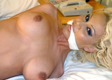 Hot Mature Blonde Gets Tightly Bound and Cleave Gagged in a Hotel Room