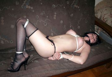 Kinky Asian Amateur Gets Tightly Bound, Cleave Gagged and Dominated
