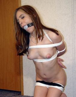 Kinky Young Girlfriend Bound and Ball Gagged for Discipline