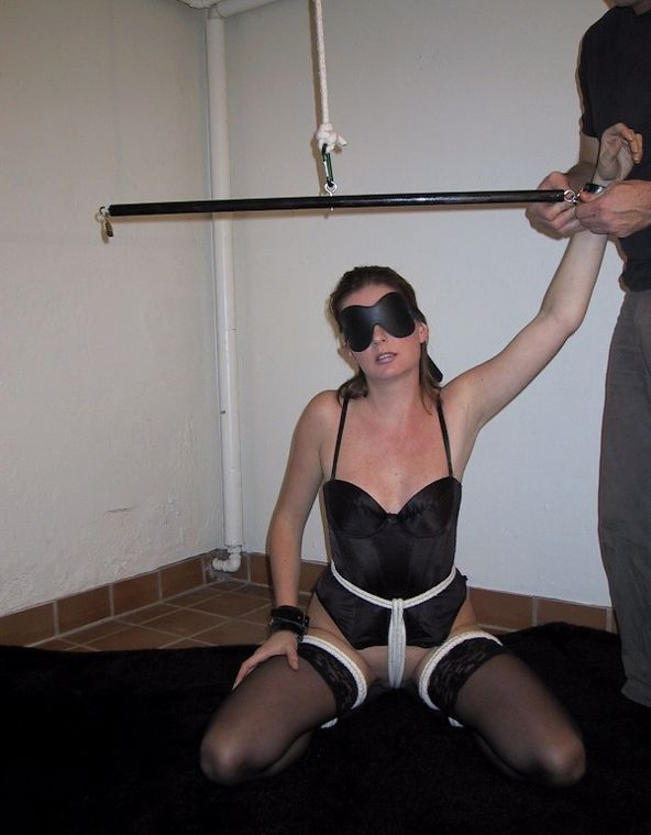 bdsm bound amateur in the basement