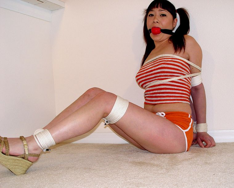 Asian girl gagged spanked