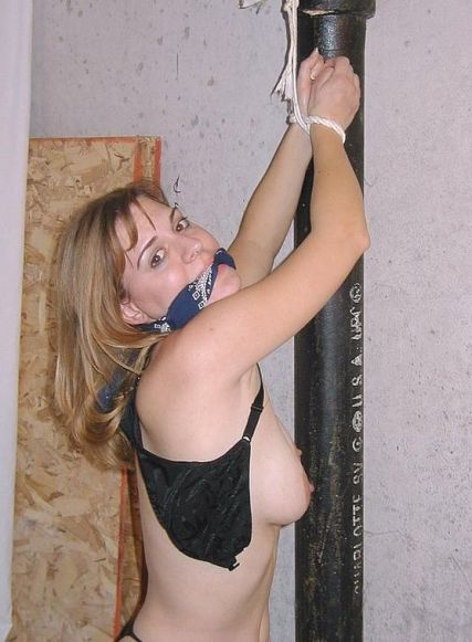 Sexy Girlfriend Bound, Cleave Gagged and Humiliated for Punishment