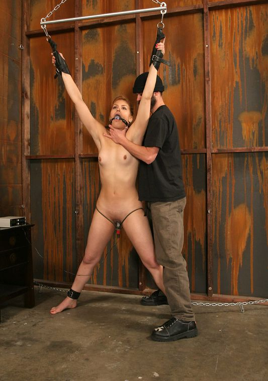 Sexy Slave Gets Restrained, Suspended and Tortured Hard in the Dungeon