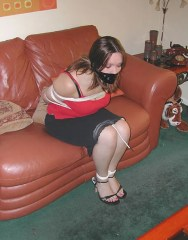 Young Curvy Amateur Gets Tightly Bound and Tape Gagged for Punishment