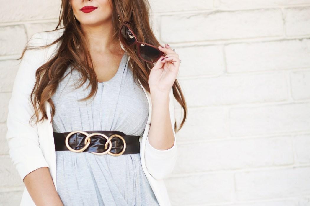 #BumpStyle // Drape Front Goddess Dress | BondGirlGlam.com
