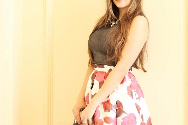 #OOTD // Rose Midi Skirt & Lady Peeps | BondGirlGlam.com