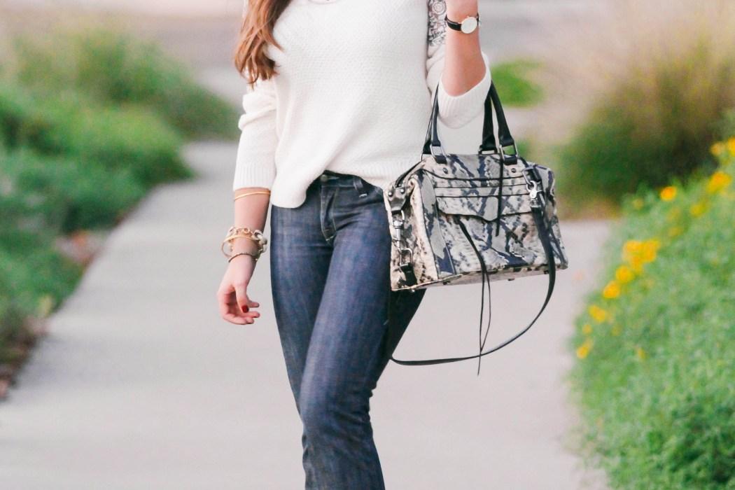 #OOTD // Lace-Detail Sweater & Flare Jeans   BondGirlGlam.com