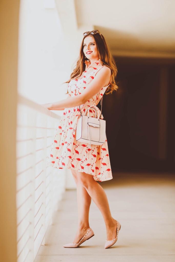 #OOTD // Flamingo Print Dress | BondGirlGlam.com