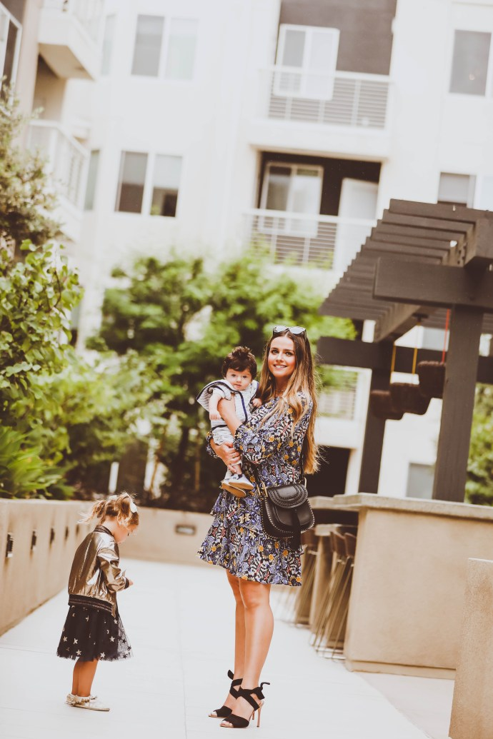 #OOTD // Fall Navy & Yellow Printed Shirtdress | BondGirlGlam.com