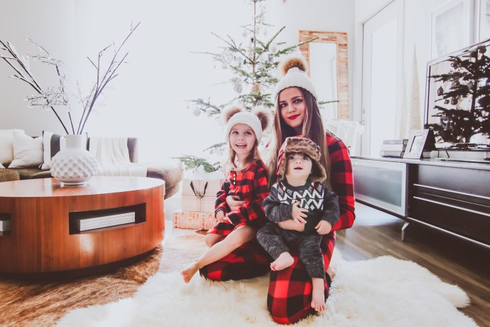 Matching Red Buffalo Check Family Christmas Pajamas