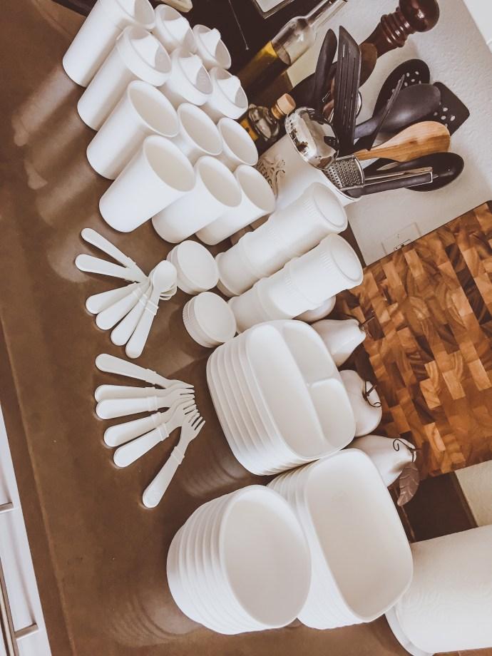 All-White Baby & Toddler Plastic Tableware   BondGirlGlam.com