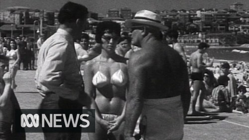 Should the bikini be banned? Bondi Beach 1961